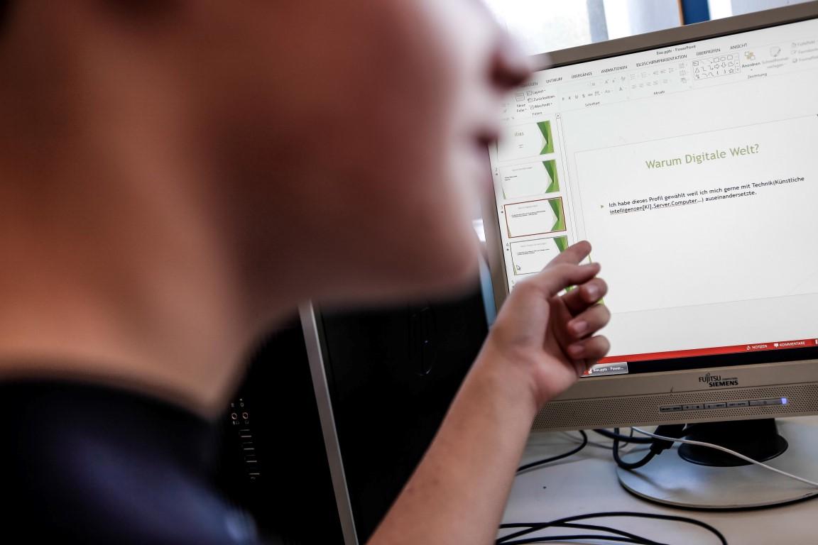 Arbeit am Bildschirm - Stadtteilschule Lohbrügge